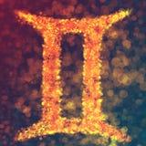 Gemini horoskopu znak Royalty Ilustracja