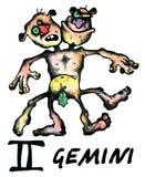 Gemini illustration Stock Images