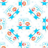Gemini seamless pattern Stock Images