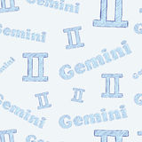 Gemini seamless Royalty Free Stock Photo