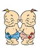 Gemini Sign. Babys Zodiac Royalty Free Stock Photography