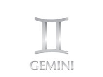 Gemini sign Royalty Free Stock Photos