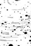 Gemini on star map B royalty free stock image