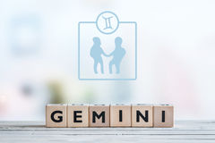 Gemini star sign on a table Stock Image