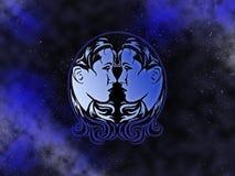 Gemini Starfield do zodíaco Foto de Stock