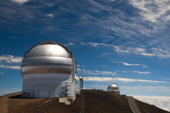 Gemini and UK Infrared Observatories Royalty Free Stock Images