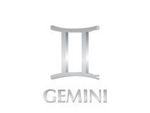 gemini znak Zdjęcia Royalty Free