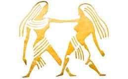 Gemini znak odizolowywający horoskop Zdjęcia Royalty Free