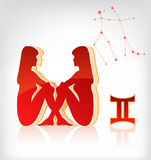 Gemini zodiac astrology icon for horoscope Stock Image