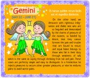 Gemini Zodiac kid Stock Photography