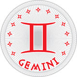 Gemini zodiac sign. Gemini zodiac icon on white background Royalty Free Stock Images