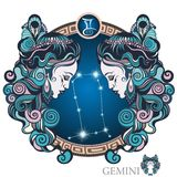 Gemini. Zodiac sign Royalty Free Stock Photos