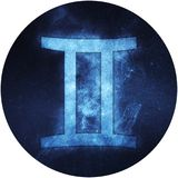 Gemini Zodiac Sign Isolated on white background Stock Image