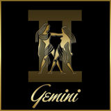 Gemini zodiac star sign. Background of gemini sign for horoscope royalty free illustration