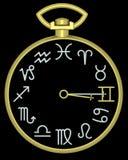 gemini zodiak zegar ilustracja wektor