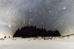 Geminids Meteor Shower Royalty Free Stock Photography