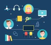 Gemischt, Bildungs-Konzept-Illustration lernend ENV 10 Lizenzfreie Stockfotos
