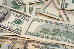Gemischte amerikanische Währung Stockbild