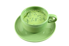 Gemischter grüner Tee der Soyabohnemilch Lizenzfreies Stockfoto