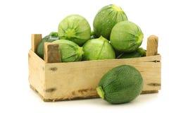Gemischter hellgrüner und grüner Zucchini lizenzfreie stockbilder