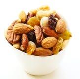 Gemischter Nuts gesunder Snackabschluß oben lizenzfreie stockbilder