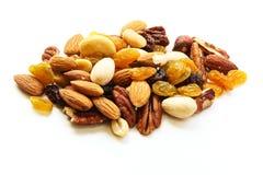 Gemischter Nuts gesunder Snackabschluß oben Lizenzfreies Stockbild