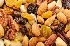 Gemischter Nuts gesunder Snackabschluß oben stockfoto