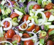 Gemischter seitlicher Salat Stockbild