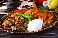 Gemischter türkischer Kebab Lizenzfreies Stockfoto