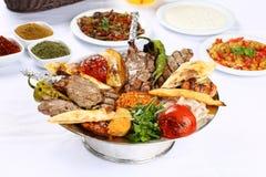 Gemischter türkischer Kebab Stockbild