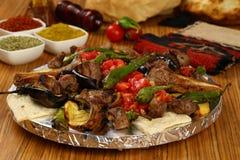 Gemischter türkischer Kebab Lizenzfreies Stockbild