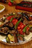 Gemischter türkischer Kebab Stockbilder