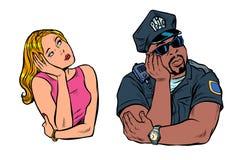 Gemischtrassige Paare, Afroamerikaner BULLE und wei?e Frau lizenzfreie abbildung