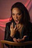 Gemischtrassiger weiblicher Vampir (2) Stockbilder