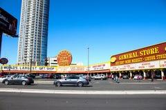 Gemischtwarenladen, Las Vegas, Nanovolt Stockbild