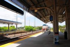 Gemiste enkel trein stock afbeeldingen