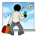 Gemiste vliegtuigpassagier Royalty-vrije Stock Fotografie