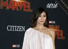 Gemma Chan. At the World premiere of `Captain Marvel` held at the El Capitan Theater in Hollywood, USA on March 4, 2019 royalty free stock photo