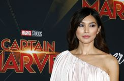 Gemma Chan. At the World premiere of `Captain Marvel` held at the El Capitan Theater in Hollywood, USA on March 4, 2019 royalty free stock photos