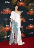 Gemma Chan. At the World premiere of `Captain Marvel` held at the El Capitan Theater in Hollywood, USA on March 4, 2019 stock photos