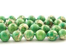 Gemma minerale di Variscite di verde della roccia isolata su fondo bianco Immagine Stock Libera da Diritti
