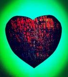 Gemma nera del cuore di struttura Fotografia Stock