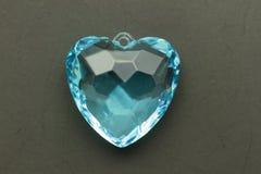 Gemme bleue de coeur Image libre de droits