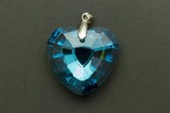 Gemme bleue de coeur Image stock
