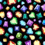 Gemme colorate del taglio differente Un modello delle pietre preziose colorate o illustrazione vettoriale