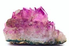 Gemme de cristal d'améthyste Photos stock