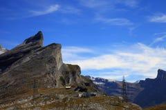 Gemmi alpine pass Royalty Free Stock Photo