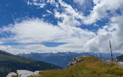 Gemmipass alto su estate Suisse Immagine Stock Libera da Diritti
