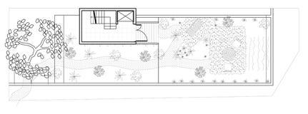 Gemodelleerd tuinplan Stock Foto