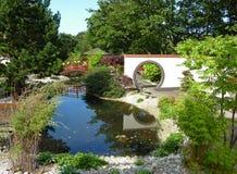 Gemodelleerde Oosterse tuin Royalty-vrije Stock Afbeeldingen